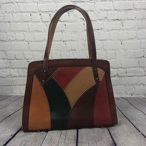 Vintage patchwork leather purse